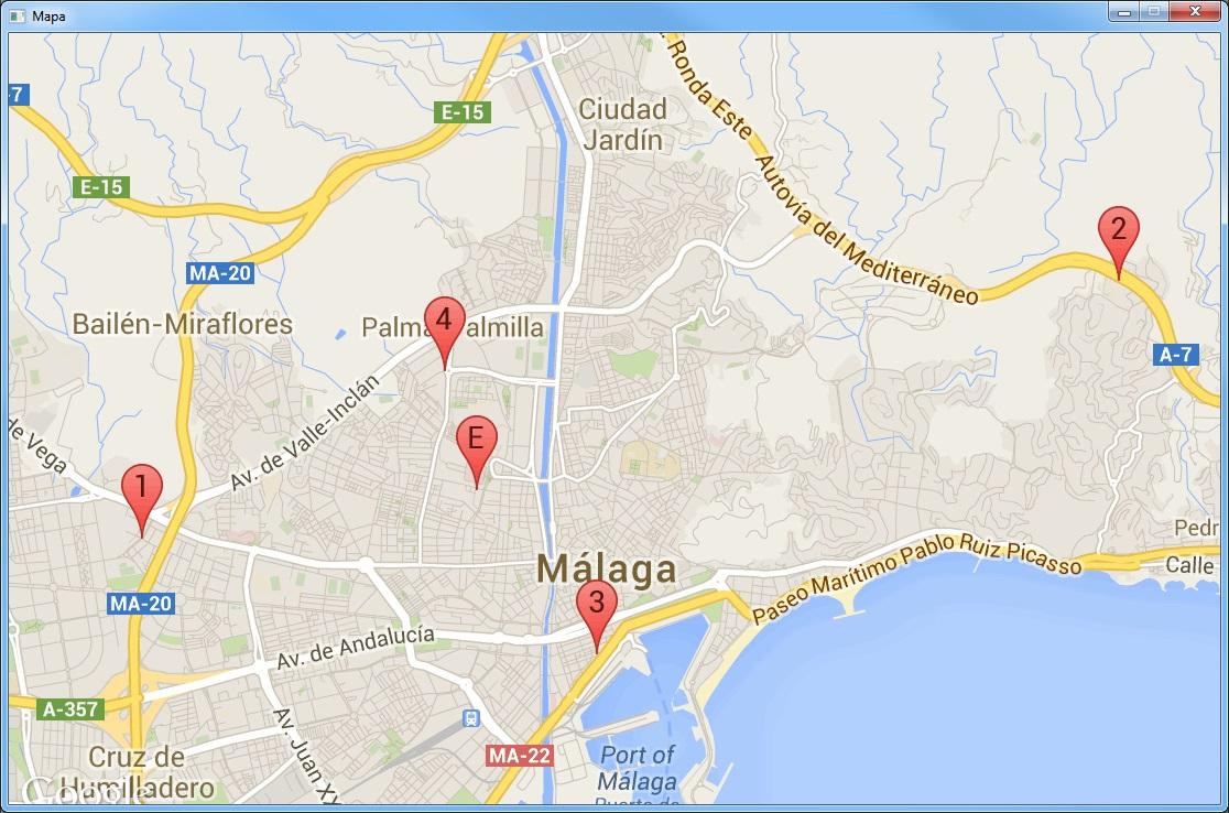 Mapa clientes ruta